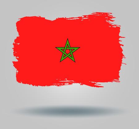 illustrated globe: Flag of Morocco Illustration