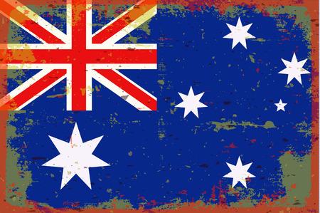 illustrated globes: Flag of Australia