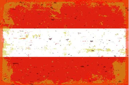 illustrated globes: Flag of Austria