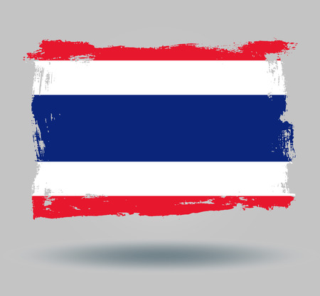 illustrated globes: Flag of Thailand