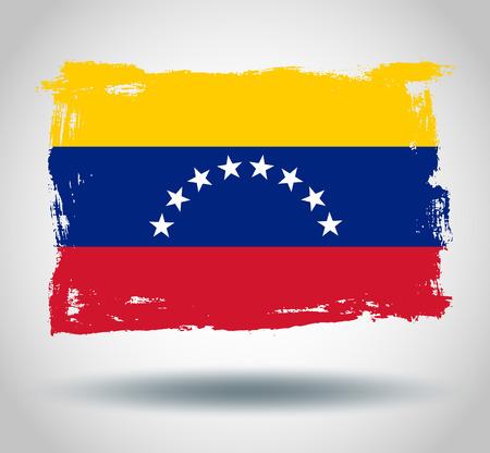 illustrated globes: Flag of Venezuela