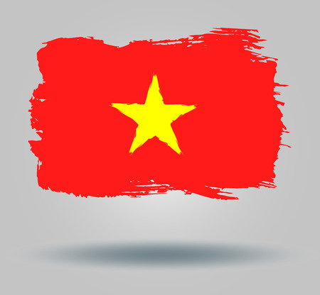 illustrated globes: Flag of Vietnam Illustration