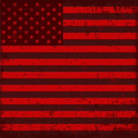 illustrated globes: flag united states of america