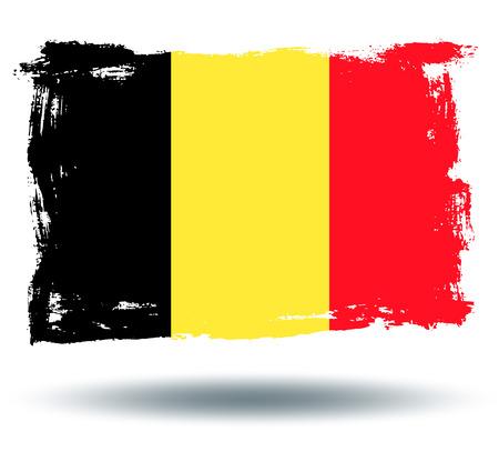 illustrated globe: Flag of Belgium Illustration