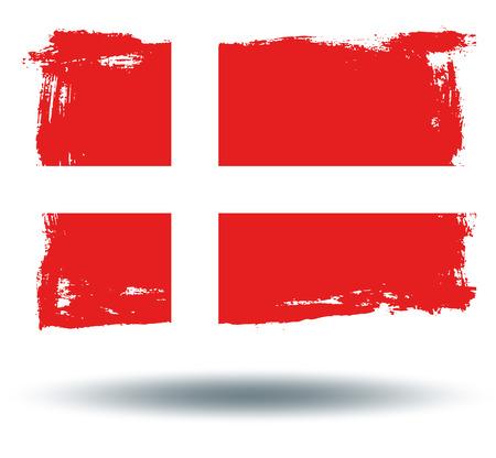 illustrated globe: Flag of Denmark Illustration