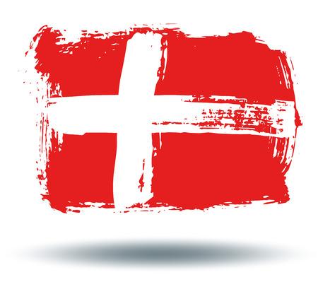 illustrated globes: Flag of Denmark Illustration