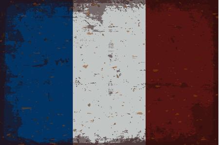 illustrated globes: Flag of France Illustration