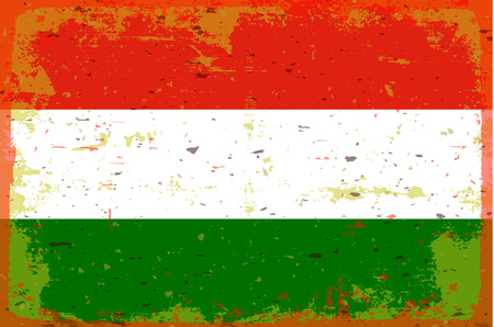 illustrated globes: Flag of hungary