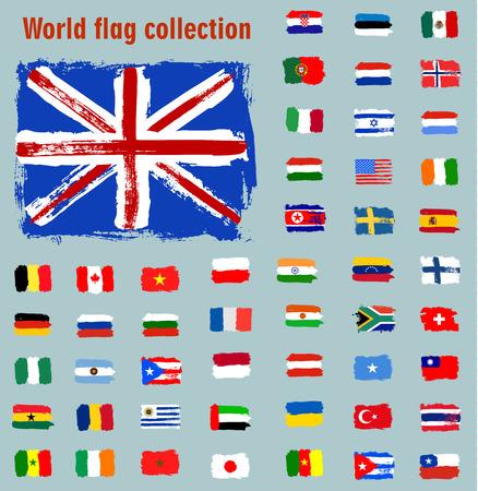 Colección de banderas del mundo Foto de archivo - 43206674