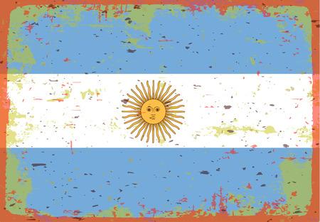 illustrated globes: Flag of Argentina Illustration