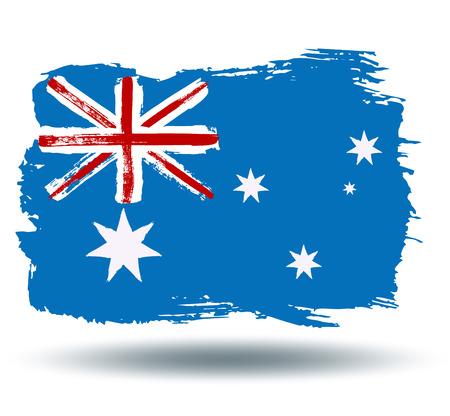 illustrated globe: Flag of Australia