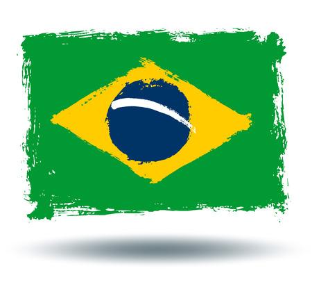 illustrated globe: Flag of Brazil