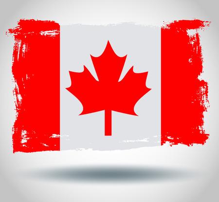 illustrated globe: Flag of Canada