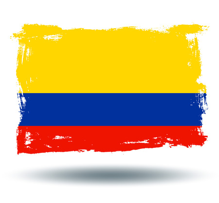 illustrated globes: Flag of Colombia Illustration