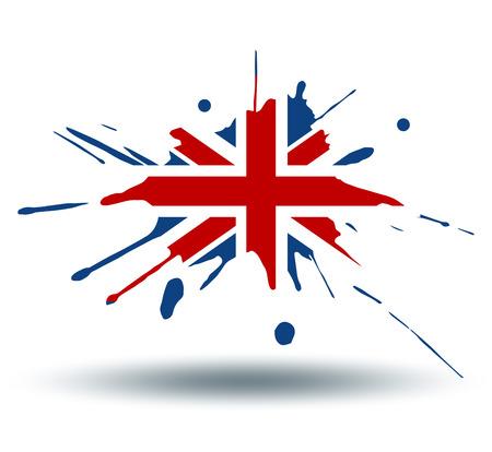 illustrated globe: Flag of England Illustration