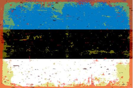 illustrated globes: Flag of Estonia