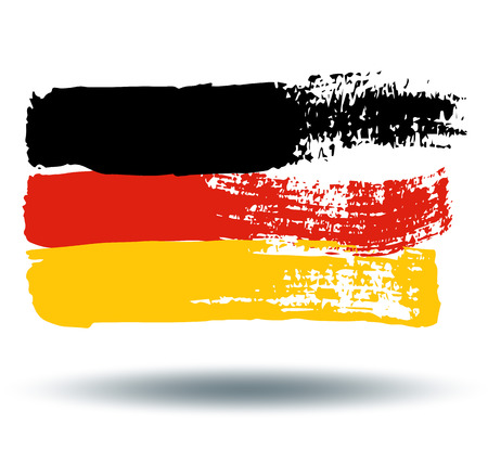 illustrated globe: Flag of Germany