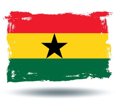 ghana: Drapeau du Ghana  Illustration