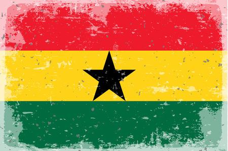 illustrated globes: Flag of Ghana