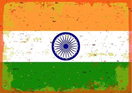 illustrated globes: flag of India
