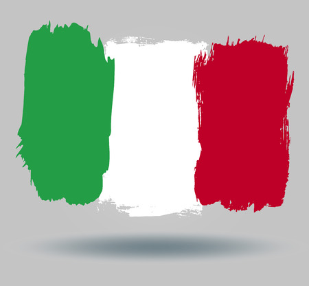 illustrated globes: Flag of Italy