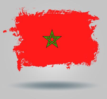 illustrated globes: Flag of Morocco Illustration