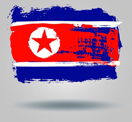 illustrated globes: Flag of North Corea