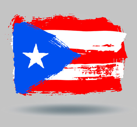 illustrated globes: Flag of Puerto rico