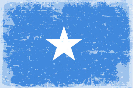 illustrated globes: Flag of Somalia Illustration