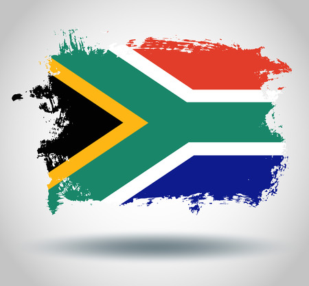 illustrated globe: Flag of South africa