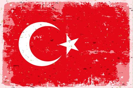 illustrated globes: Flag of Turkey