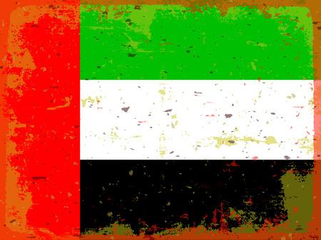 illustrated globes: flag United Arab Emirates