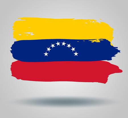 illustrated globes: flag of venezuela Illustration