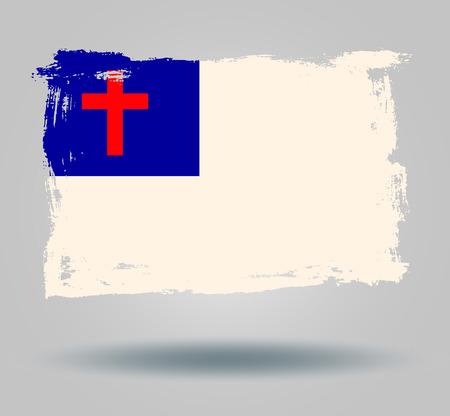 illustrated globes: flag usa cristian Illustration