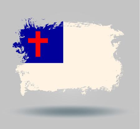 cristian: flag usa cristian Illustration