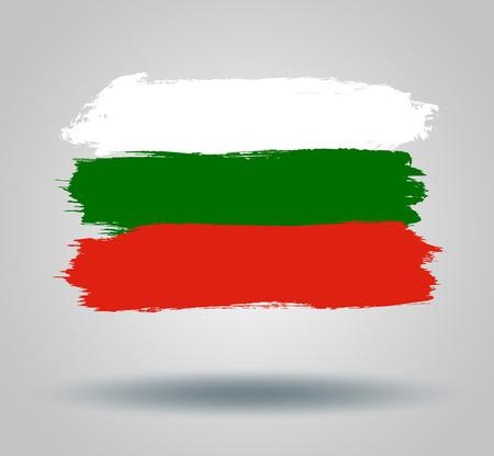 illustrated globe: Flag Bulgaria Illustration
