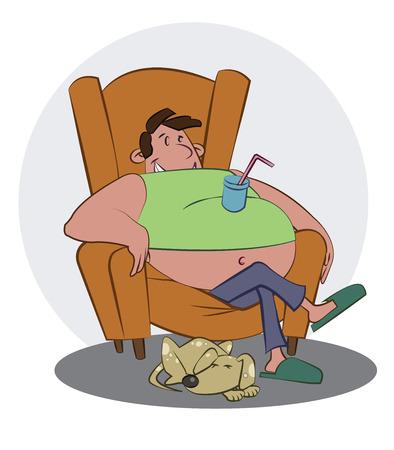 sedentary: couch potato