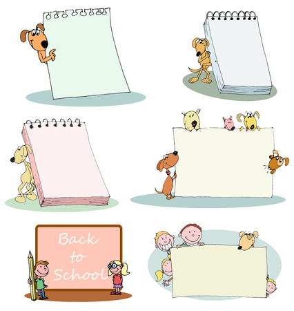 pen and paper: kids and pets banner