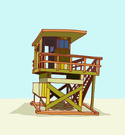 life guard stand: lifeguard station