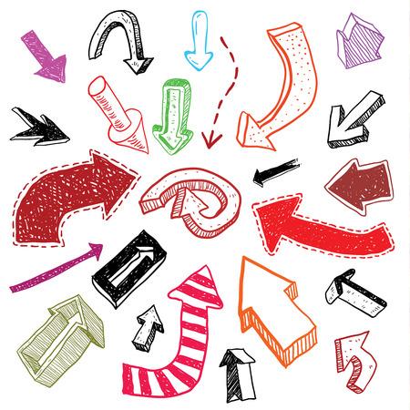 lefthand: arrows doodle set