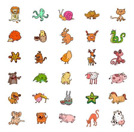 漫画の動物セット