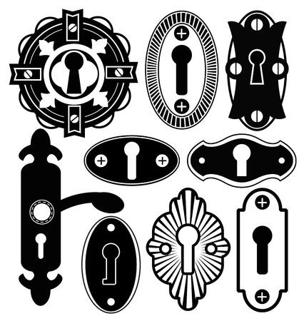 handle: Door Handle Knob Latch Key Keyhole