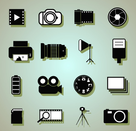 photo icons: Photo icons Illustration