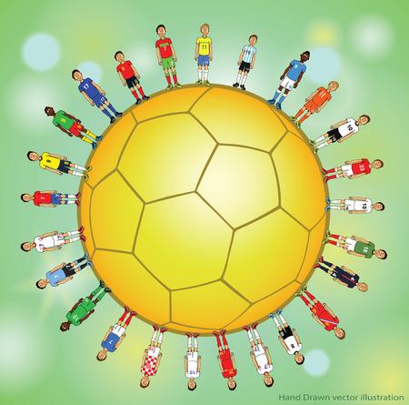 kickoff: soccer doodle set Illustration