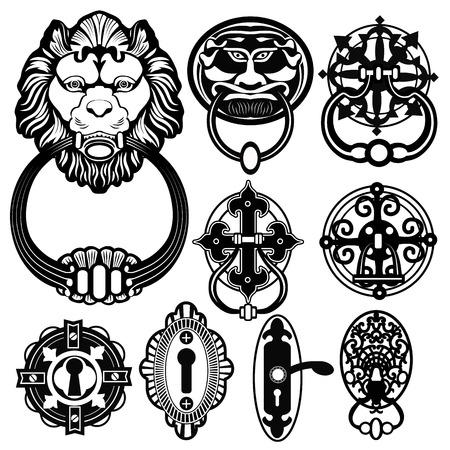 metal doors: door head knocker