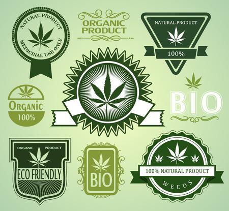 dope: Set of Medical  medicinal marijuana labels.