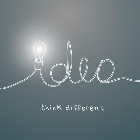 black light: Creative light bulb idea