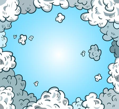 swear: comic sky style. Vector illustration