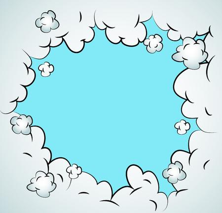 sounds: comic sky style. Vector illustration