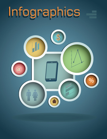 phonographic: Graph Design, infographics Vector Illustration